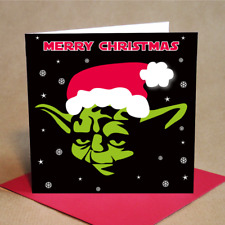 Yoda Style Christmas Cards Pack of 6 (Small)