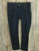 "Silver ""Suki"" Women's Skinny Stretchy Dark Wash Blue Jeans Size 31/31"