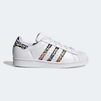 Adidas Originaux Femmes Superstar Iconique Chaussures Avec Standout Modèle White