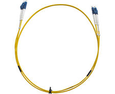 Generic LC-LC OS1 Duplex Fibre Optic Cable Yellow - 2m