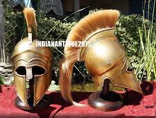 New Medieval Greek Corinthian Helmet Armor Leather Liner Helmet With Stand Free