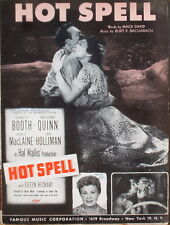 High Noon and Hot Spell - 1950s  Movie Sheet Music - Free Shipping U.S.