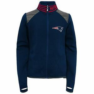 Outerstuff NFL Football Youth Girls New England Patriots Aviator Full Zip Jacket
