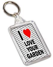 I Love Liebe Ihren Garten Schlüsselring - Geschenk - Geburtstag - Weihnachten -