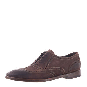 RRP €320 PREVENTI Suede Leather Oxford Shoes EU41 UK7 US8 Treated Made in Italy