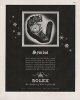 1944 Vintage Rolex Symbol Watch Timepiece Print Ad
