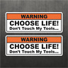 Funny Dont Touch My Tools Warning Sticker Vinyl Decal Mechanic Prank Tool box
