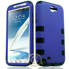 Samsung N7100 Galaxy Note 2 Hybrid Case-Purple Case Cover Shield Shell