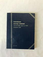 Whitman Blue Folder 9073 for Canada SILVER DOLLAR Coin Collection (1935 To 1957)