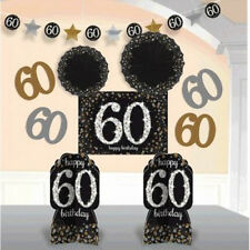 OVER THE HILL Sparkling 60th BIRTHDAY ROOM DECORATING KIT Party Supplies