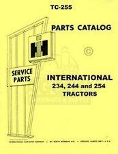 International Harvester 234 244 254 Tractor Parts Catalog Manual TC-255
