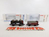 CJ181-0,5# 2x Märklin H0/AC Güterwagen K.W.St.E. NEM KK: 46039 + 46743, NEUW+OVP