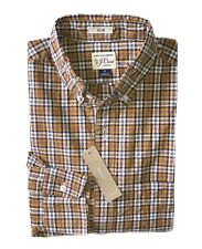 J.Crew Mens S - Classic Fit - NWT - Orange/Brown Plaid Secret Wash Cotton Shirt