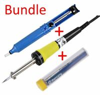 Soldering Iron 40W with Rubber Lead, 240V Plus desolder pump and 5m Solder tube