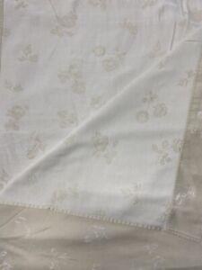 Nancy Koltes Italy Fine Linens Full Flat Sheet Jacquard Cotton Luxury Bedding