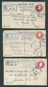 GEORGE Vth 3 DIFFERENT REGISTERED NEEDS CLEANING INTERESTING