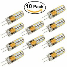 10PCS Led G4 2 Watt 12 v Ac Dc 2600-2900 karat Glühbirnen, Ersetzt 15 watt warm