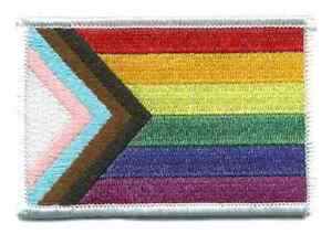 Progress Pride/Trans/LGBTQ/Minority Group Embroidered Sew or Iron on Patch Badge
