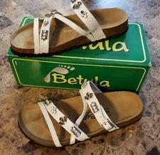 65cb38e7074908 Birkenstock Betula - Ruby Leather Pearl Metallic Sandal!