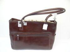 Genuine Leather Fossil Brown Large Ladies Women's Handbag Bag Purse