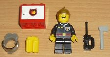 Lego City 1 Feuerwehrmann mit Zubehör (goldener Helm)