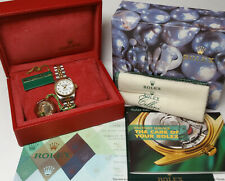 79173 Rolex Factory Diamond 18k Gold Ladies Datejust Watch Box Papers Tags