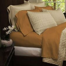 Four-Piece Sheet Set 1800 Series Bedding - Bamboo Comfort Full Size Gold Sheets