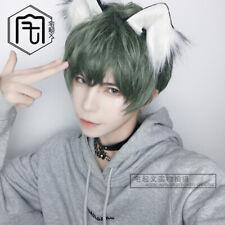 2020 New Green Short hair Boys BL Man Gothic Harajuku Lolita Sweet Cosplay Wig