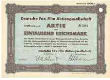 Deutsche Fox Film AG Berlin 1938