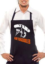 AUFTRAGSGRILLER Deluxe - Zweifarbig - Grillschürze Schwarz / Orange-Weiss