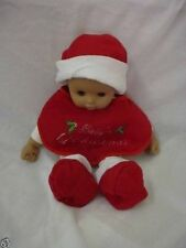 3 Pce Baby's First Santa Suit Bib, Hat and Shoes (B6)