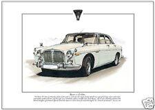 ROVER 3½ litre  Fine Art Print A4 size - P5 3.5L British saloon car illustration