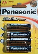 12 x Pila Alcalina AA LR6 1,5v PANASONIC Alkaline Power, 3 paquetes de 4 pilas