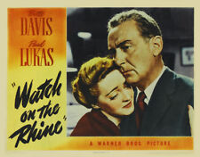 Watch on the Rhine Bette Davis movie poster print