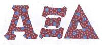 Iron On Letters Alpha - Omega pi xi delta zeta omicron beta phi psi mu kappa chi