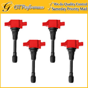 Performance Ignition Coil 4PCS for Infiniti FX50 M56/ Nissan Altima Sentra Versa