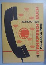 Fernsprechbuch Bezirk Cottbus 1988 Lübbenau Spremberg Altdöbern Hoyerswerda Luck