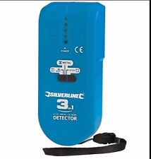 SILVERLINE  3-in-1 compact Detector find Cables Metal Pipes 477936