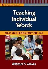 Teaching Individual Words: One Size Does Not Fit All (Language & Literacy Practi