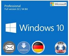 Windows 10 Professional 32 / 64 Bit OEM Key Schlüssel Multilingual Vollversion