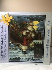 Bits And Pieces Liz Goodrick Dillon Rooftop Santa Puzzle 300 Pcs 100% Complete