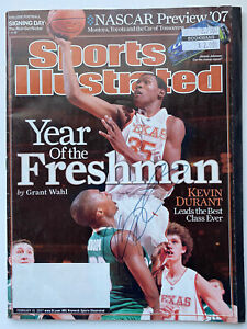 Kevin Durant Signed Rookie Texas Sports Illustrated Magazine RARE NETS WL NBA