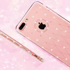 Luxe Bling strass TPU silicone étui coque transparent housse Pr iPhone 6 6S 7 8