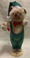 """Adorable 25"""" Animated Illuminated Teddy Bear Christmas Figurine"""