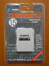 Memory card Tarjeta memoria 1MB 15blq. Third Party PlayStation PSX PS1 PSone NEW