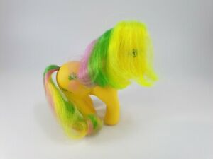 ❤️My Little Pony MLP G1 VTG Tropical Ponies Tootie Tails Pineapple Yellow 1987❤️