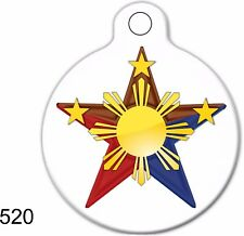 Pet Tags Personalized Pet ID tag Dog  Cat Collars  Philippine Flag Deep Engraved