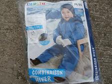 DOUDOUNE Combinaison Hiver Ski  enfant LUPILU 6/12 mois .74/80 cm NEUVE