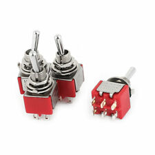 4pcs Ac 250v125v 2a5a Onoffon 3 Position 6pin Dpdt Panel Mount Toggle Switch