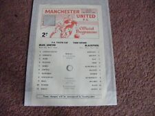 1967/8  Manchester United v Blackpool FA Youth Cup